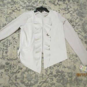 "INC BEIGE ""CHALK"" FAUX SUEDE sweaterJACKET  MEDIUM"
